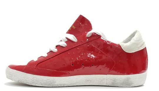 Golden Goose Deluxe Brand G33ws590.l88 Red Ostrich-White Star Athletic Image 1
