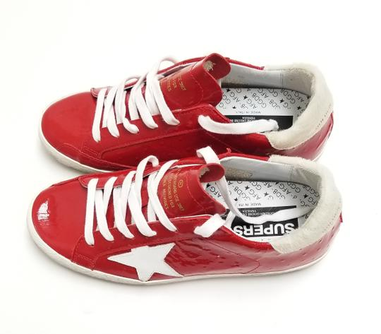 Golden Goose Deluxe Brand G33ws590.l88 Red Ostrich-White Star Athletic Image 2