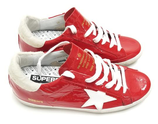 Golden Goose Deluxe Brand G33ws590.l88 Red Ostrich-White Star Athletic Image 4