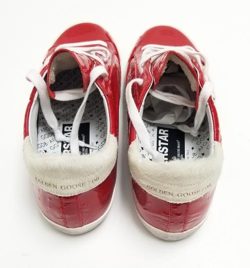 Golden Goose Deluxe Brand G33ws590.l88 Red Ostrich-White Star Athletic Image 5