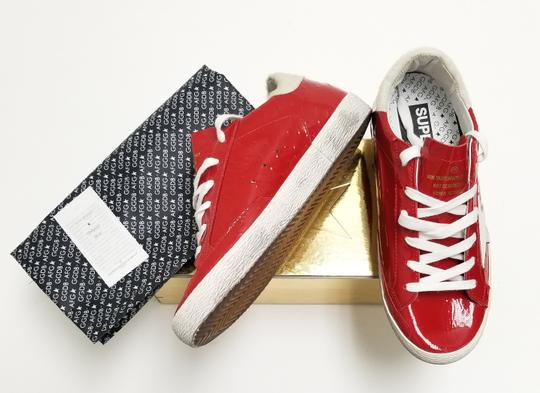 Golden Goose Deluxe Brand G33ws590.l88 Red Ostrich-White Star Athletic Image 6