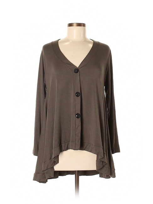 Item - Green Modal Hi Lo Oversized Cardigan Lounge Tunic Size 6 (S)
