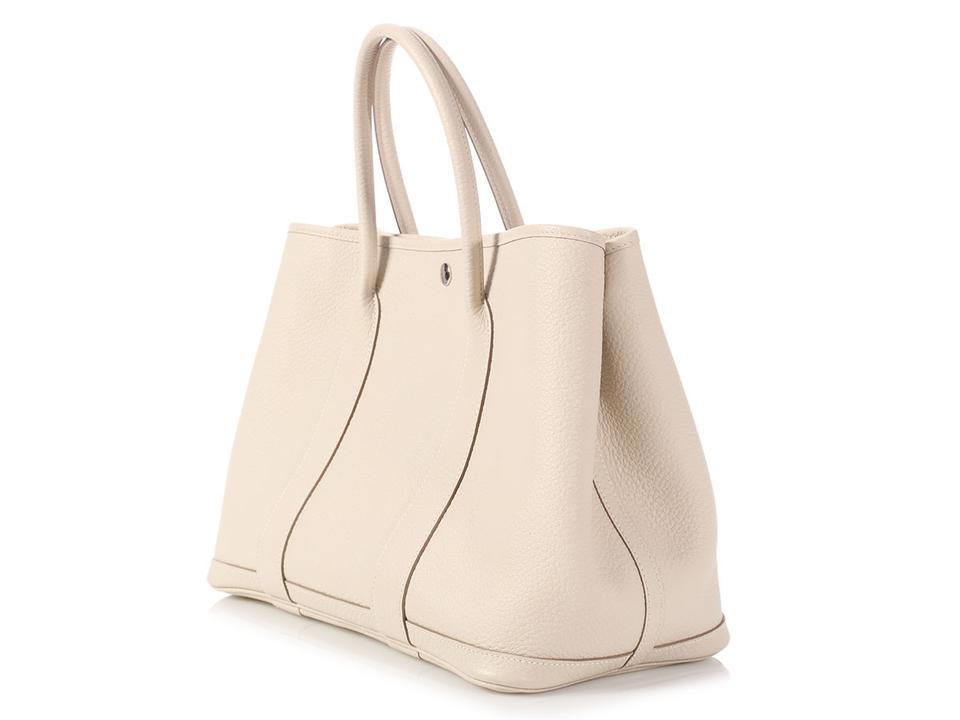 ebcd0a8175dd Hermès Garden Party 36 Vache Country Craie White Leather Tote - Tradesy