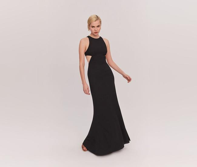 Fame and Partners Black Midheaven Long Formal Dress Size 14 (L) Fame and Partners Black Midheaven Long Formal Dress Size 14 (L) Image 1