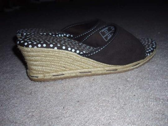 Lands' End Espadrille Brown Wedges