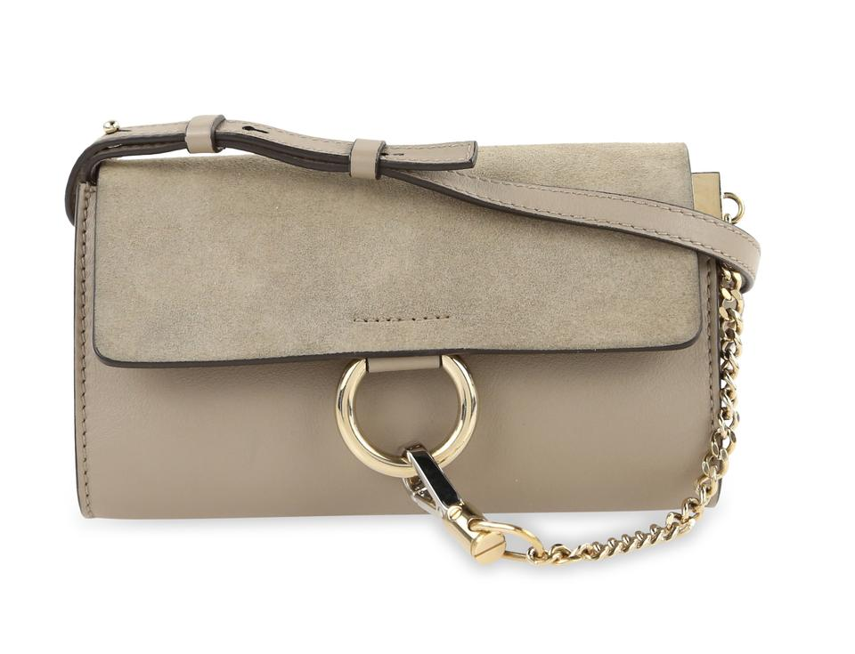 0623d6f732 Chloé Faye Mini Wallet-on-strap Grey Leather Cross Body Bag 51% off retail