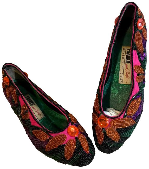 Item - Pink Frankie and Baby Beaded Flats Size US 5.5 Regular (M, B)