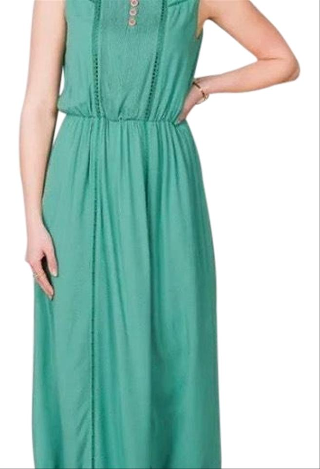 d1dba37baaba Matilda Jane Green New Down In The Valley Large Long Casual Maxi ...