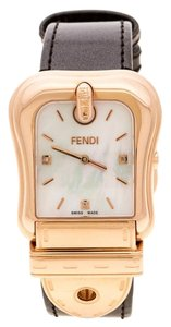 Fendi Mother of Pearl Rose Gold Plated 3800G Women's Wristwatch 33 mm
