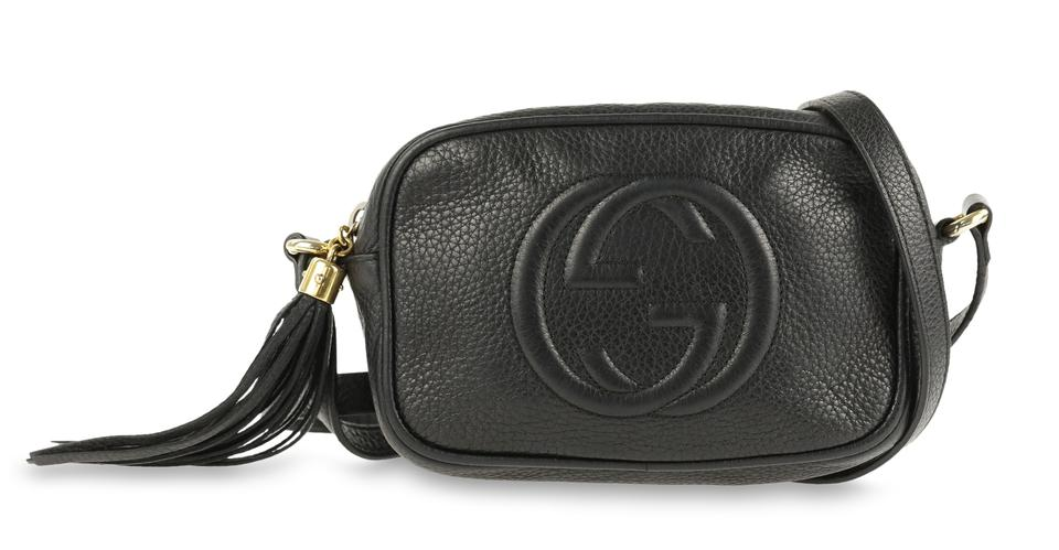 78570abdbd08 Gucci Soho Disco Black Leather Cross Body Bag - Tradesy