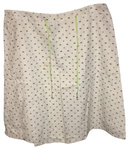 Talbots Skirt white and green