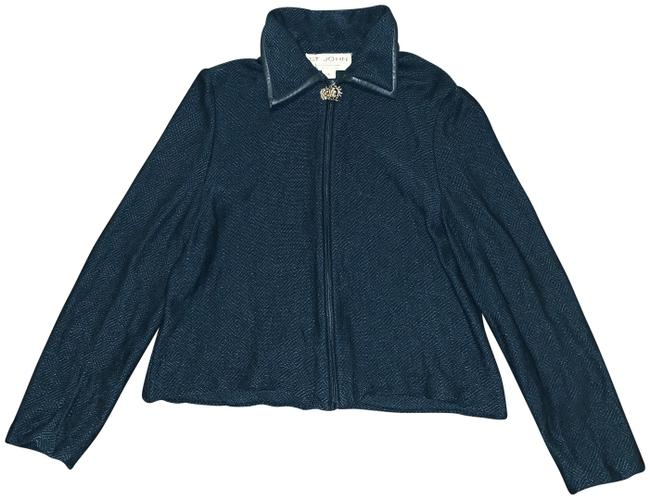 Item - Dark Blue Collection Open Front Knit Jacket Activewear Size 6 (S)