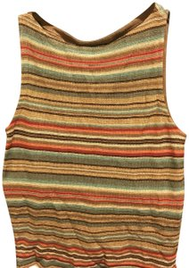 Ralph Lauren Collection Sleeveless Linen Blend Stylish Top Blues and earth tones, multiple colors