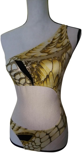 Item - Gold Black Ivory Just One-piece Bathing Suit Size 8 (M)