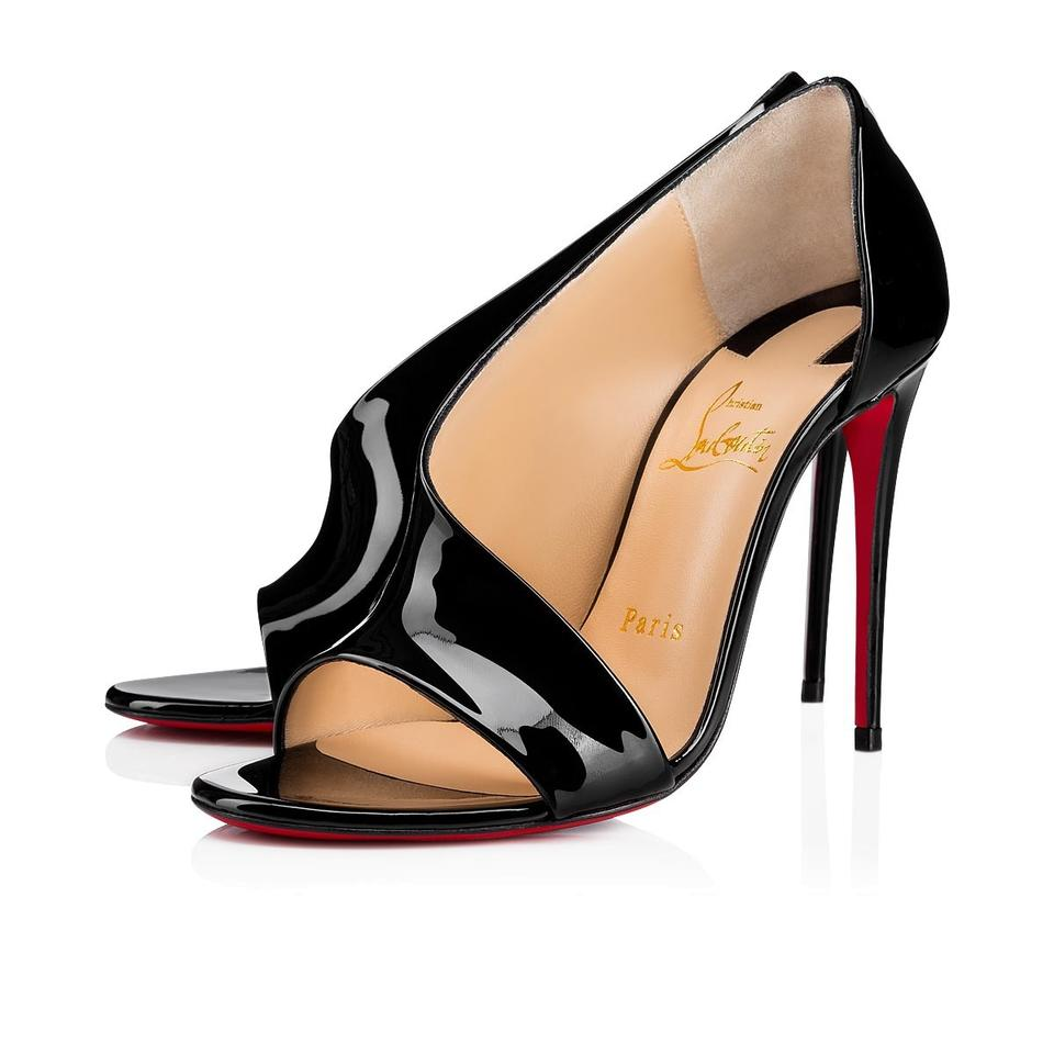 classic fit 50% off retail prices Christian Louboutin Black Phoebe 100 Patent Dorsay Sandal Peep Toe Stiletto  Classic Heel Pumps Size EU 42 (Approx. US 12) Regular (M, B)