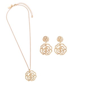 Kate Spade Crystal Rose Necklace & Jewelry Set