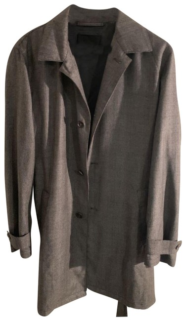 Item - Gray Men's Trench Coat Size OS (one size)
