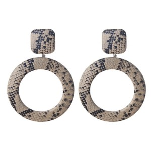 Anthropologie Snake print dangle earring