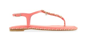 Chanel Chain Slides Flat Slide Pink Sandals