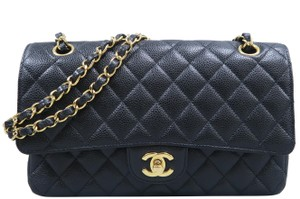 5ca22b491e38 Added to Shopping Bag. Chanel Caviar Medium Double Shoulder Bag. Chanel  Classic Flap Double Cf Medium Black ...