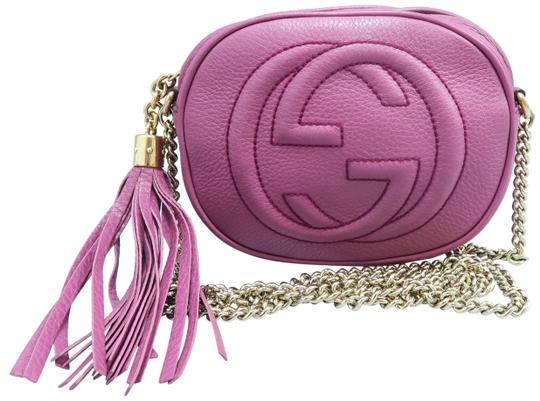 00b752539ed Gucci Soho Mini Chain Rospberry Calfskin Leather Cross Body Bag ...