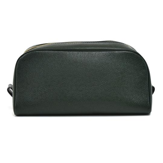 Louis Vuitton Louis Vuitton Green Taiga Leather Toiletry Cosmetic Case Pouch Image 1