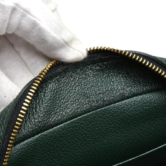 Louis Vuitton Louis Vuitton Green Taiga Leather Toiletry Cosmetic Case Pouch Image 5