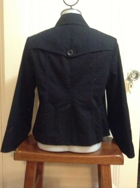 Lucky Brand Swing Coat Black with bright green lining Jacket