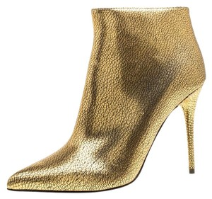 Alexander McQueen Leather Gold Boots