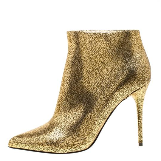 Alexander McQueen Leather Gold Boots Image 1