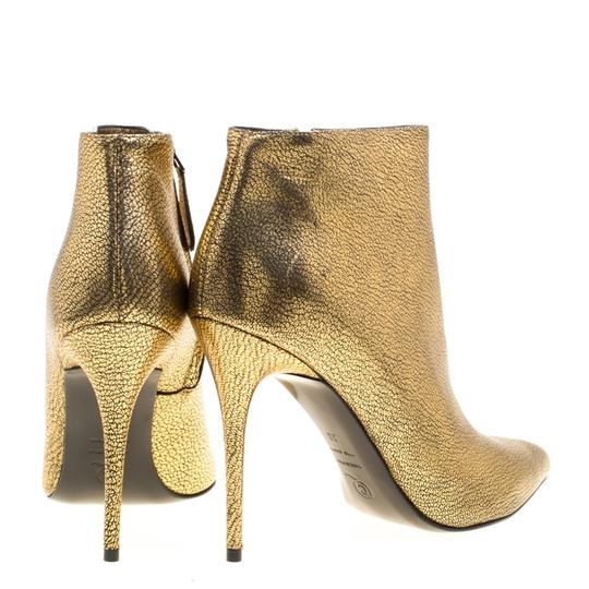 Alexander McQueen Leather Gold Boots Image 3