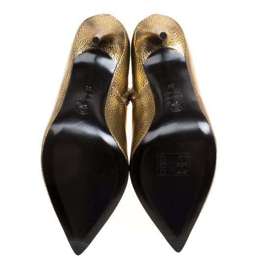 Alexander McQueen Leather Gold Boots Image 4