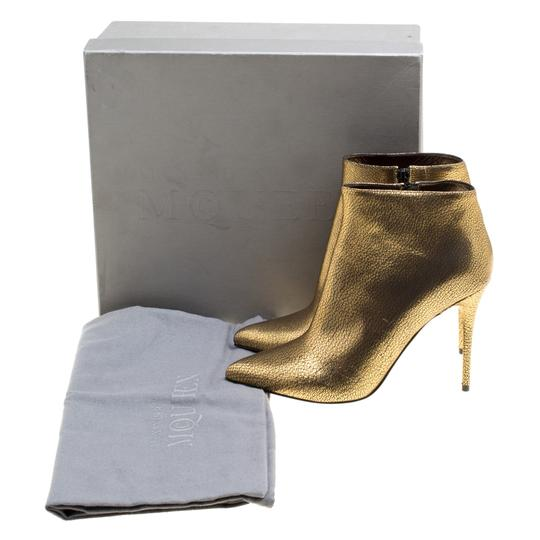 Alexander McQueen Leather Gold Boots Image 7