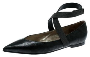 Brunello Cucinelli Leather Black Flats
