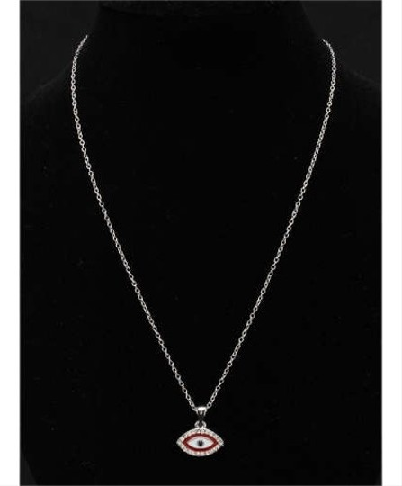Other Red Small Rhinestone Evil Eye Pendant Necklace