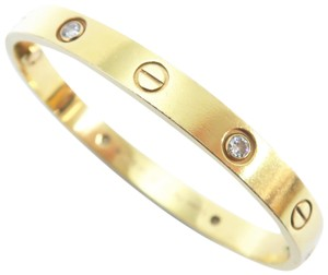 0280fdc9ebd7d5 Cartier Yellow Gold Size 16 Diamond Love Bracelet - Tradesy