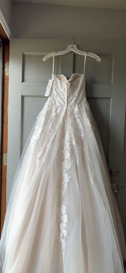 David S Bridal Ivory And Champagne Lace Tulle 10012655 Vintage Wedding Dress Size 4 S 16 Off Retail