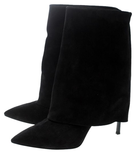 91d8a1ee5ca Casadei Black Suede Pointed Boots Booties Size EU 37.5 (Approx. US ...