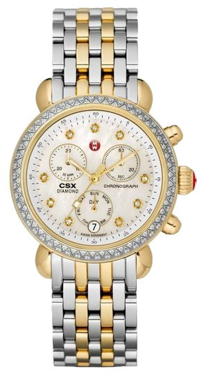 Preload https://img-static.tradesy.com/item/25107633/michele-two-tone-csx-36-stainless-mother-of-pearl-diamond-dial-mww03m000158-watch-0-1-540-540.jpg