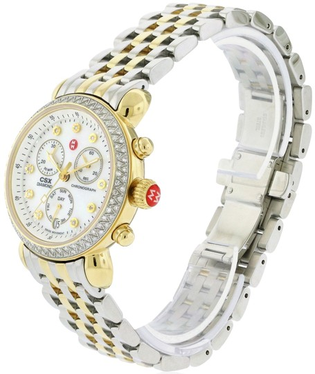 Michele CSX Two Tone Stainless Mother of Pearl Diamond Dial MWW03M000158 Image 2