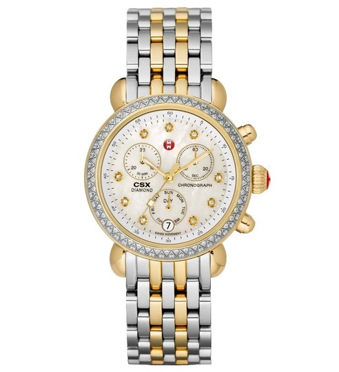 Michele CSX Two Tone Stainless Mother of Pearl Diamond Dial MWW03M000158 Image 4