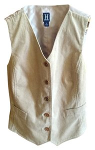 Tommy Hilfiger Vest Button Down Shirt light tan