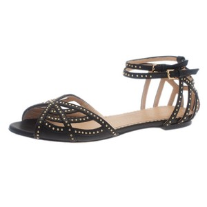 229c4e8fc3f7 Charlotte Olympia Studded Leather Strappy Black Sandals