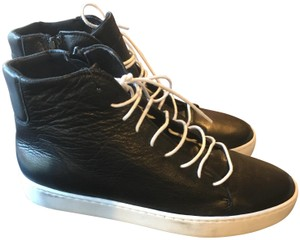 6830a9b3df5d Sixtyseven Leather High Top Sneaker Black White Athletic