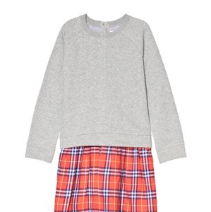 Burberry short dress Grey and Red Check on Tradesy