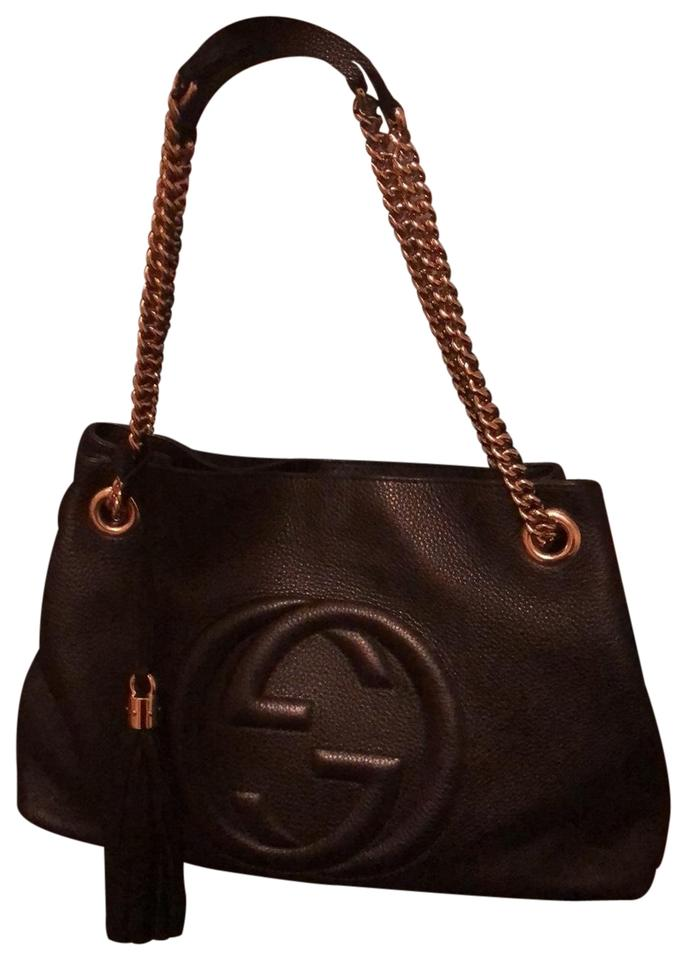 513135edade Gucci Soho Shoulder Double Chain Leather Hobo Bag - Tradesy