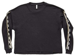 Lanston Sporty Edgy Fall Chic Embellished Sweater