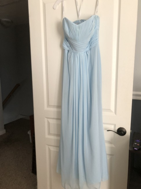 Item - Blue Polyester F15555 Formal Bridesmaid/Mob Dress Size 6 (S)