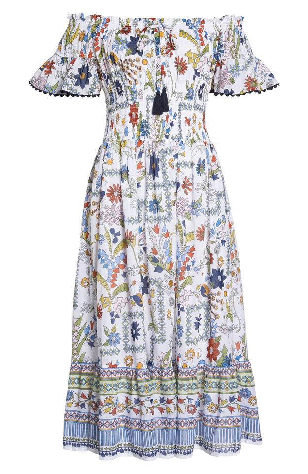 7b46fc876dd Tory Burch Ivory Multi-color Meadow Folly Seen On Princess Olympia Of  Greece Casual Maxi Dress