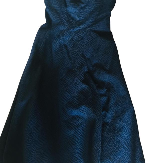 Item - Navy Blue Strapless Mid-length Cocktail Dress Size 4 (S)